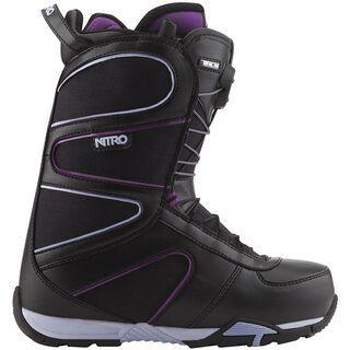 Nitro Crown TLS, Black-Purple - Snowboardschuhe