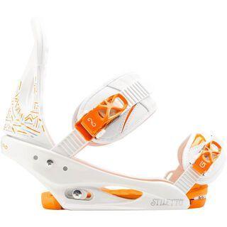 Burton Stiletto 2014, White And Orange - Snowboardbindung