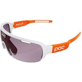 POC DO Half Blade AVIP, white/zink orange/Lens: violet - Sportbrille