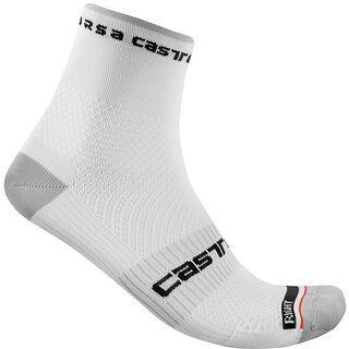 Castelli Rosso Corsa Pro 9 Sock white