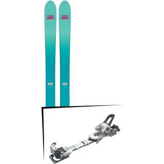 Set: DPS Skis Nina F99 Foundation 2018 + Tyrolia Ambition 12 AT solid white black