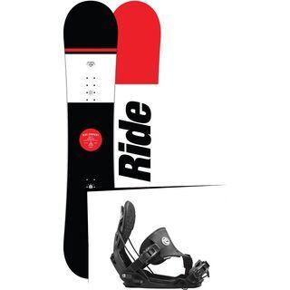 Set: Ride Agenda Wide 2017 + Flow Five Hybrid 2016, black - Snowboardset