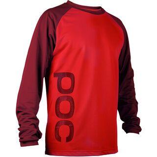 POC Flow Jersey, solder red/pewter red - Radtrikot