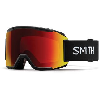 Smith Squad XL inkl. WS, black/Lens: cp sun red mirror - Skibrille