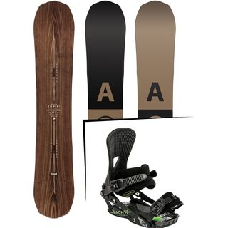 Set: Arbor Element Premium Mid Wide 2017 + Nitro Machine 2015, black - Snowboardset