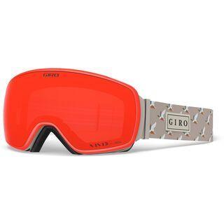 Giro Agent inkl. WS, duck/Lens: vivid ember - Skibrille