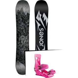 Set: Jones Ultra Mountain Twin Wide 2019 + Nitro Zero muted brights series raspberry
