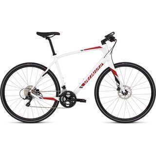 Specialized Sirrus Elite Carbon Disc 2016, white/red - Fitnessbike