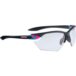 Alpina Twist Four S VL+, black matt pink blue/Lens: varioflex+ black - Sportbrille