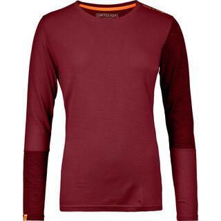 Ortovox 185 Merino Rock'n'Wool Long Sleeve W, dark blood - Unterhemd
