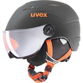 uvex junior visor pro, black-orange mat - Skihelm