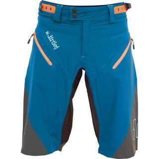 dirtlej Trailscout Half & Half Men, blue/grey/orange - Radhose