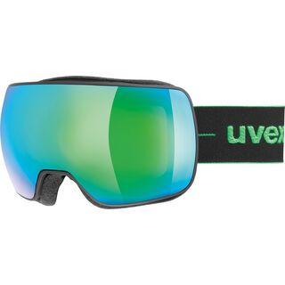 uvex compact FM, black mat/Lens: mirror green - Skibrille