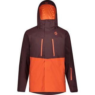 Scott Ultimate DRX Men's Jacket, red fudge/orange pumpkin - Skijacke