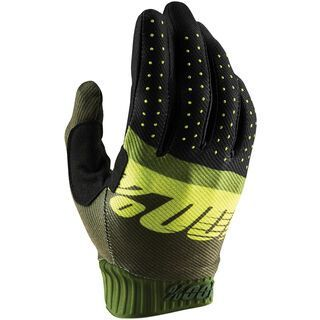 100% Ridefit Glove, army green/fluo lime/fatigue - Fahrradhandschuhe
