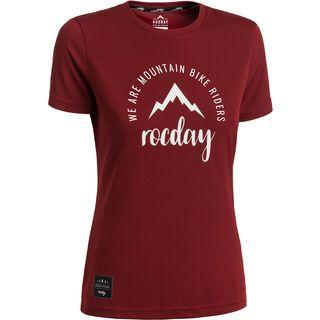 Rocday Monty Jersey, dark red - Radtrikot