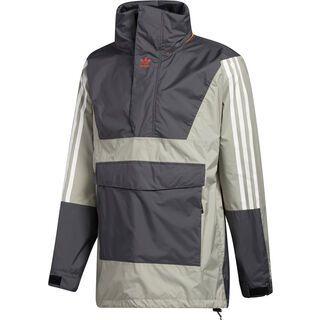 Adidas Anorak 10K Jacket grey six/feather grey/orange