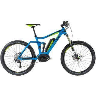 Cube Stereo Hybrid 140 SL 27.5 2014, blue/lime - E-Bike