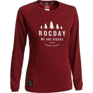 Rocday Patrol Wmn Jersey, dark red - Radtrikot