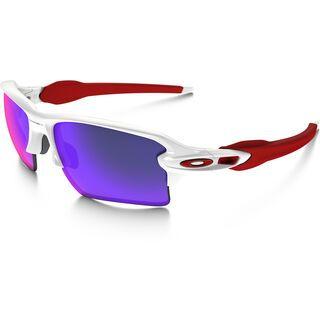 Oakley Flak 2.0 XL, polished white/Lens: positive red iridium - Sportbrille