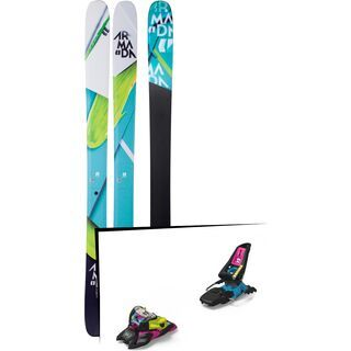 Set: Armada Trace 108 2018 + Marker Squire 11 ID black/pink/blue