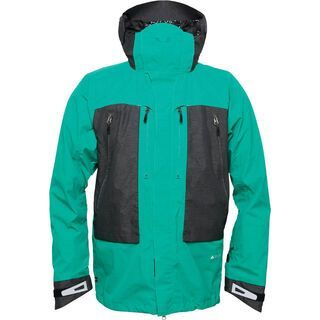686 Glacier Advance Thermagraph Jacket, Emerald Heather Ripstop Colorblock - Snowboardjacke
