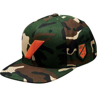 100% Strikeforce Snapback Hat, camo black/green - Cap