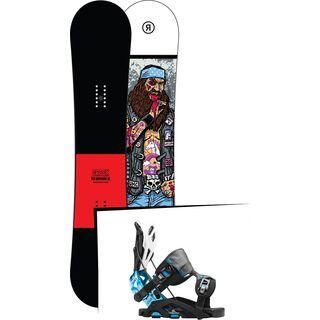 Set: Ride Crook Wide 2017 + Flow Fuse-GT 2016, black/blue - Snowboardset
