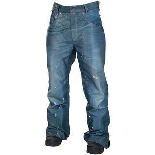 686 Reserved Destructed Denim Insulated Pant, Indigo - Snowboardhose