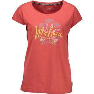 Maloja TorfmoosM., vintage red - T-Shirt