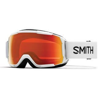 Smith Grom, white/Lens: cp everyday red mirror - Skibrille