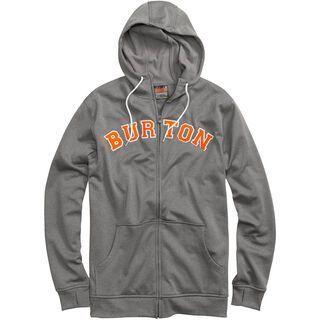 Burton Premium Bonded Hoodie, Gray Heather - Fleece Hoodie