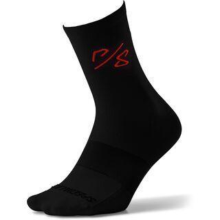 Specialized Soft Air Road Tall Sock Sagan Collection - Deconstructivism, red/black - Radsocken
