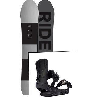 Set: Ride Timeless 2017 + Ride Rodeo 2016, matte black - Snowboardset