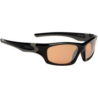 Alpina Flexxy Teen, black-grey/orange mirror - Sportbrille