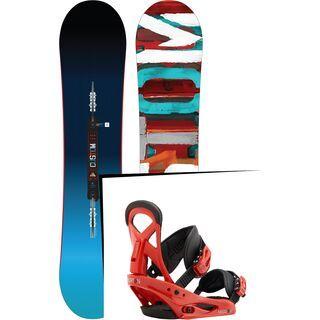 Set: Burton Custom Smalls 2017 + Burton Mission Smalls 2017, el rojo - Snowboardset