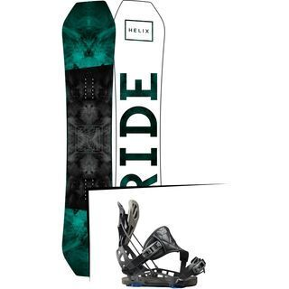 Set: Ride Helix 2017 + Flow NX2-GT Hybrid 2017, black - Snowboardset