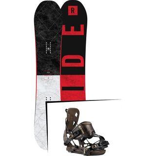 Set: Ride Machete GT 2017 + Flow NX2-Redwood Hybrid 2017 - Snowboardset