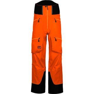 Ortovox 3L Merino Pants Guardian Shell, crazy orange - Skihose