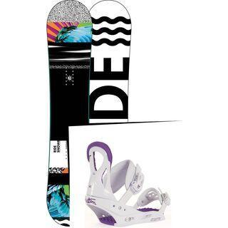 Set: Ride Rapture 2017 + Burton Stiletto Disc 2017, white/purple - Snowboardset