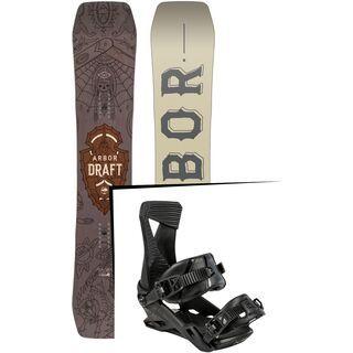 Set: Arbor Draft 2017 + Nitro Zero 2015, black - Snowboardset