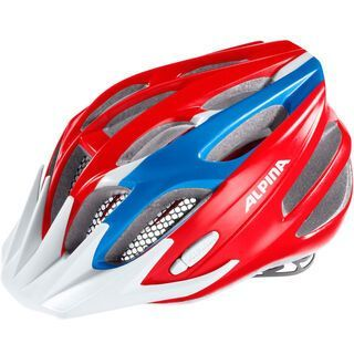 Alpina FB Junior 2.0, red blue white - Fahrradhelm
