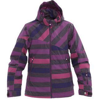 Rehall Coco, aop purple striped ash - Snowboardjacke