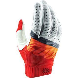 100% Ridefit Glove, red/fluo orange/slate blue - Fahrradhandschuhe