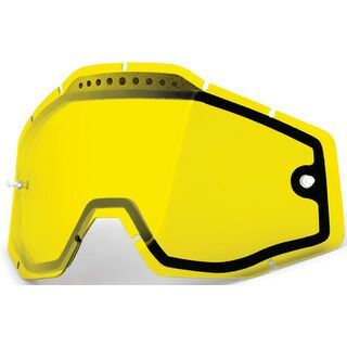 100% Racecraft/Accuri/Strata Vented Dual Replacement Lens, yellow