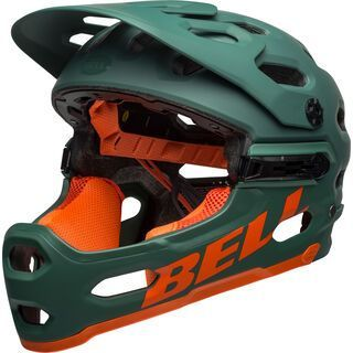 Bell Super 3R MIPS, green/orange - Fahrradhelm