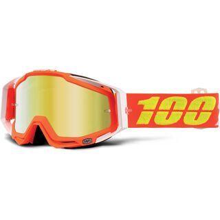 100% Racecraft inkl. WS, razmataz/Lens: mirror gold - MX Brille