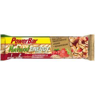 PowerBar Natural Energy Cereal (Vegan) - Strawberry Cranberry - Energieriegel