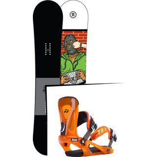 Set: Ride Crook 2017 + Ride KX 2015, orange - Snowboardset
