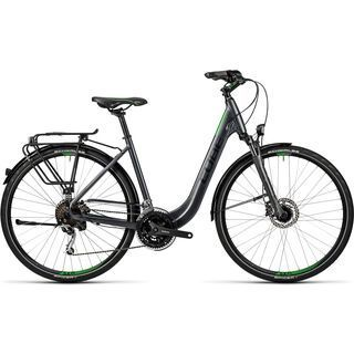 Cube Touring EXC Easy Entry 2016, grey black green - Trekkingrad